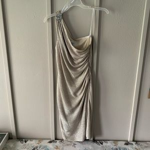 Silver / Champagne shimmering cocktail dress